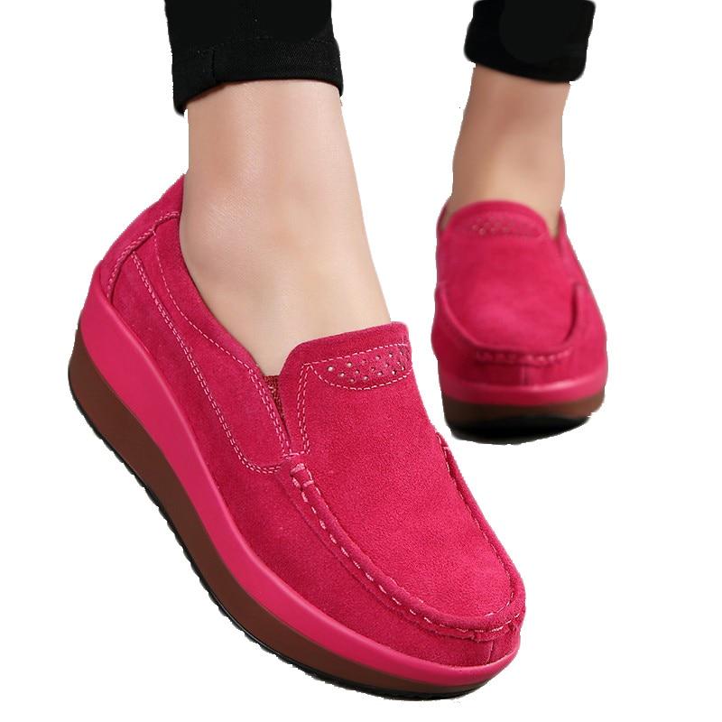 2018 Fashion Flats Women Shoes Female Flats Suede Slip On Shoes Women Flat Shoes Ballet Plus Size High Quality Szies 42
