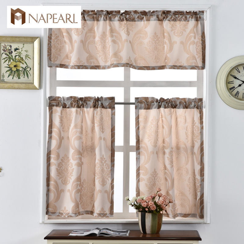 Short Kitchen Curtains Shade Window Treatments Modern Door Jacquard Thick  Cafe Curtain Panel Ready Made Luxury European Style In Curtains From Home U0026  Garden ...