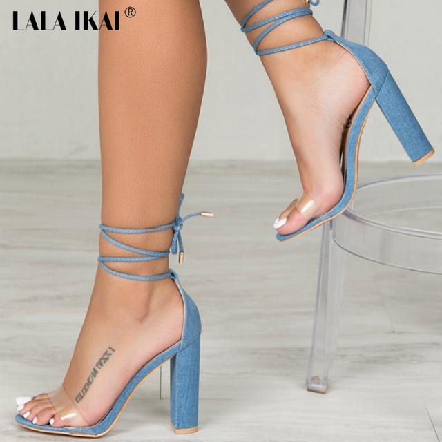 Lala Ikai Fashion New Sandals High Heel Elegant Open Toe Sexy Lace