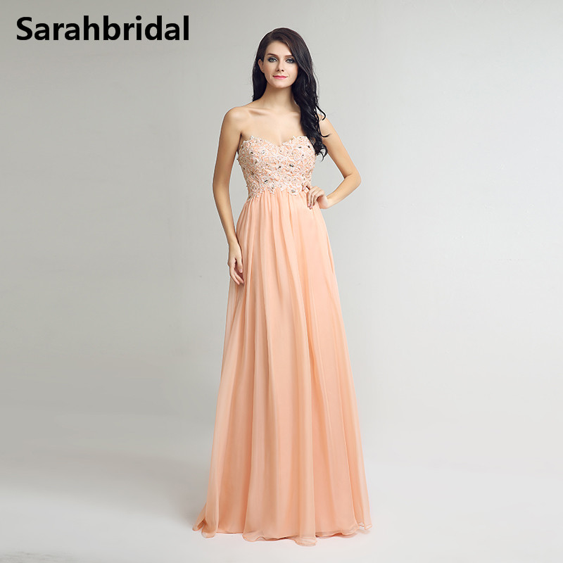 Buy peach crystal dress and get free shipping on AliExpress.com