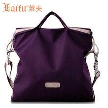 LaiFu Multi-purpose Design Teenage Girls Nylon Bag Large Capacity Ladies Shoulder Handbag Messenger Shopping School Travel