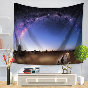 Image 3 - Psychedelic Cosmic Series Stars Tapestry Starry Sky Fabric Wall Hanging Decor Polyester Curtains Plus Table Cover Yoga