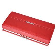 Wallet Women's Wallet Clutch Long Design Clip Wallet Long Wallets Coin Purse Bag red