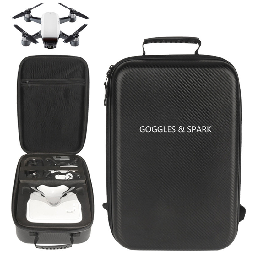 Shoulder Bag Outdoor waterproof Backpack for DJI Spark Drone with DJI VR Goggles Aug11 Professional Factory Price Drop Shipping dji spark glasses vr glasses box safety box suitcase waterproof storage bag humidity suitcase for dji spark vr accessories