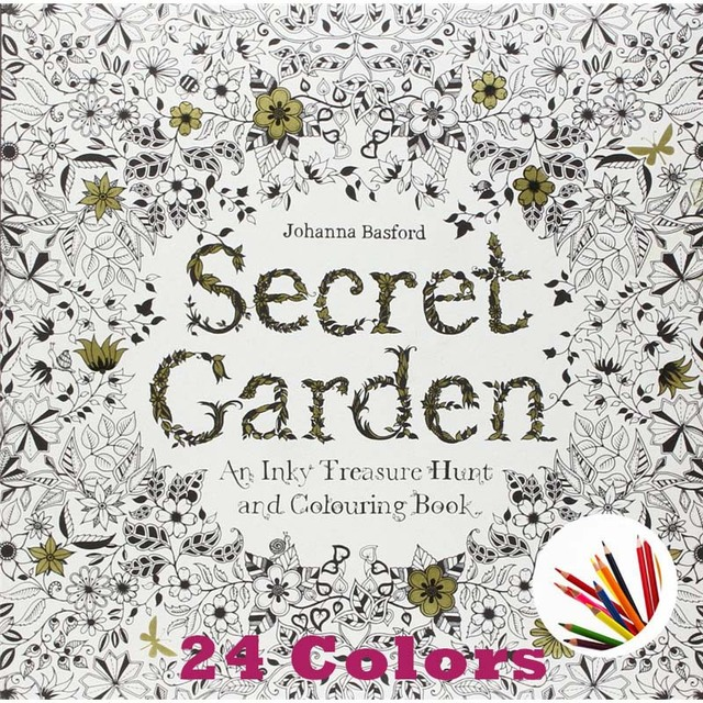 Secret Garden An Inky Treasure Hunt And Coloring Book For Children Adult Relieve Stress Kill Time