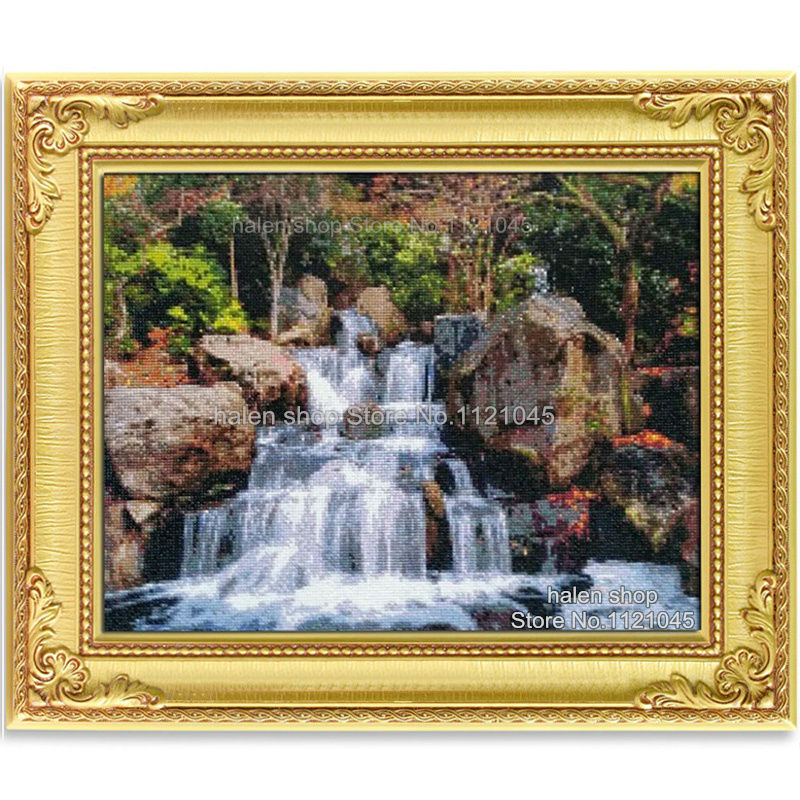 YOGOTOP DIY Diamond Painting Cross Stitch Kits Diamond Embroidery setting sun sea beauty Full Mosaic Needlework 5pcs set ML083 in Diamond Painting Cross Stitch from Home Garden