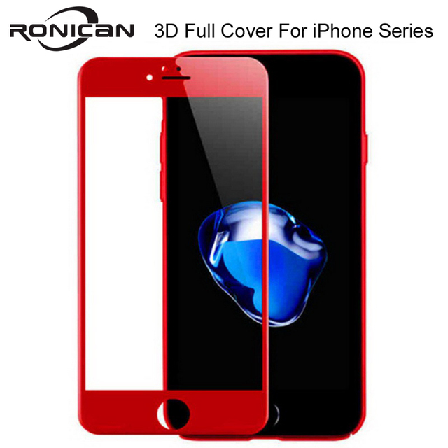 RONICAN 3D Soft full cover screen protector for iphone 8 7 6 6S 9H tempered glass on iPhone 6 6S 7 8 Plus protective glass film