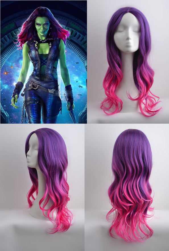 Guardians of the Galaxy Gamora Purle Gradient Wig Zoe ...