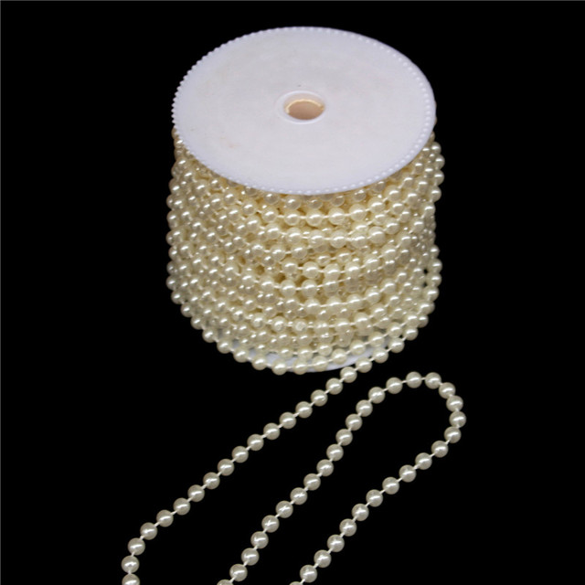 Diy material 1 Meter ABS Imitation Pearls Beads Chain Trim DIY Craft for  Clothes Bags Accessories Wholesale Wedding Decoration fe8a8dff073d