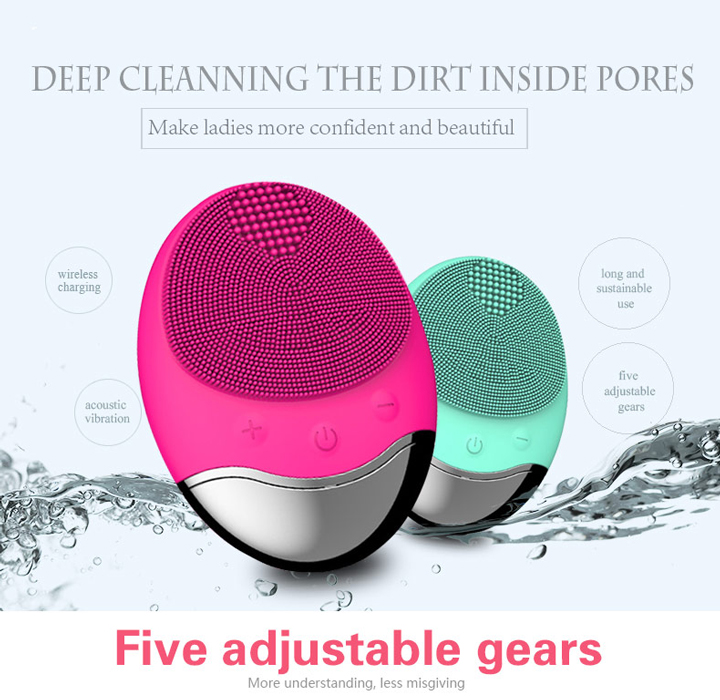 TINTON LIFE USB Base Charge Deep Cleaning Face Electric Face Cleanser remove Make-up Residue Dry And Wet Face Cleaning Brush