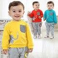 Anlencool Frete grátis A nova Primavera roupas de bebê menino Vale bonitinho elefante terno infantil roupas de bebê menino conjunto de roupas