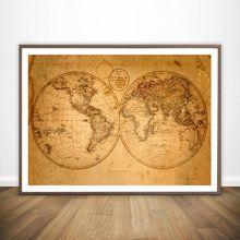 Карта старого мира античный фильм Настенная картина Настенный