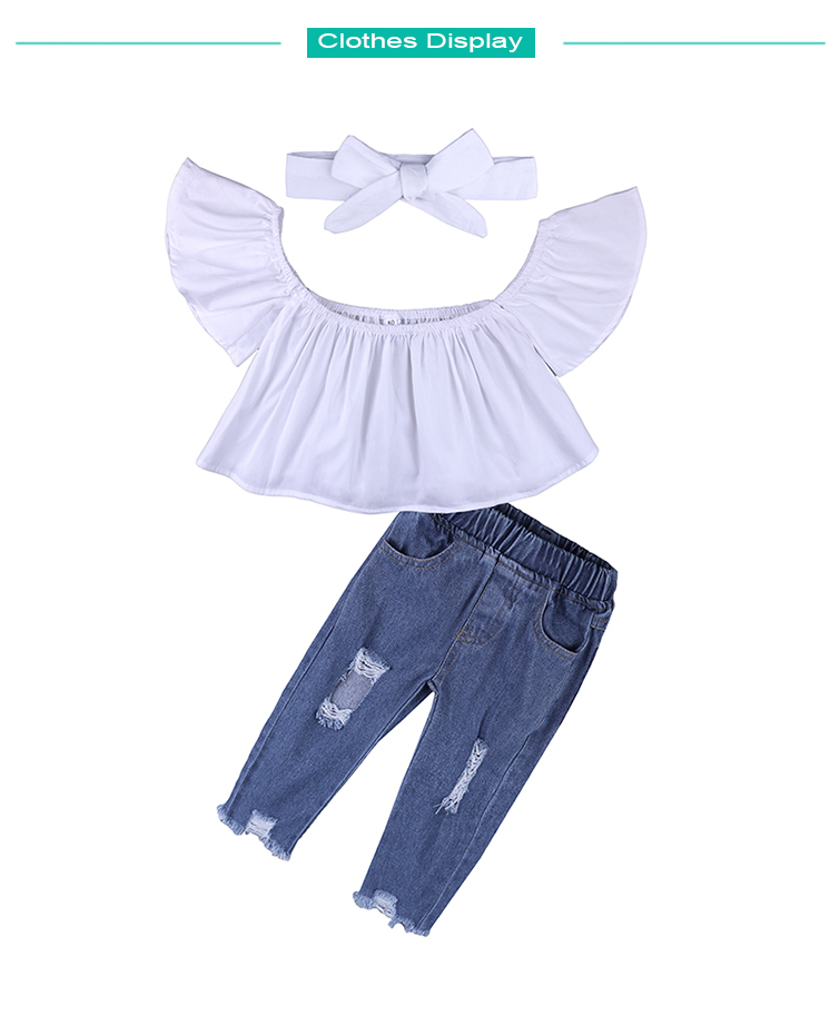 Children Sets for Girls Fashion 19 New Style Girls Suits for Children Girls T-shirt + Pants + Headband 3pcs. Suit ST307 172