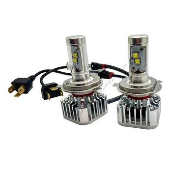 9004 LED Headlight Bulbs 6000K Pure White High Power CR -XML 80W 8000LM Aluminum Car LED Headlights Conversion Kits Foglights