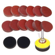 120Pcs 2 Inch Sanding Discs Pad With 1/4 Shank Backer Plate And 2Pcs Sponge Cushions For Drill Grinder Rotary Tools 60-30