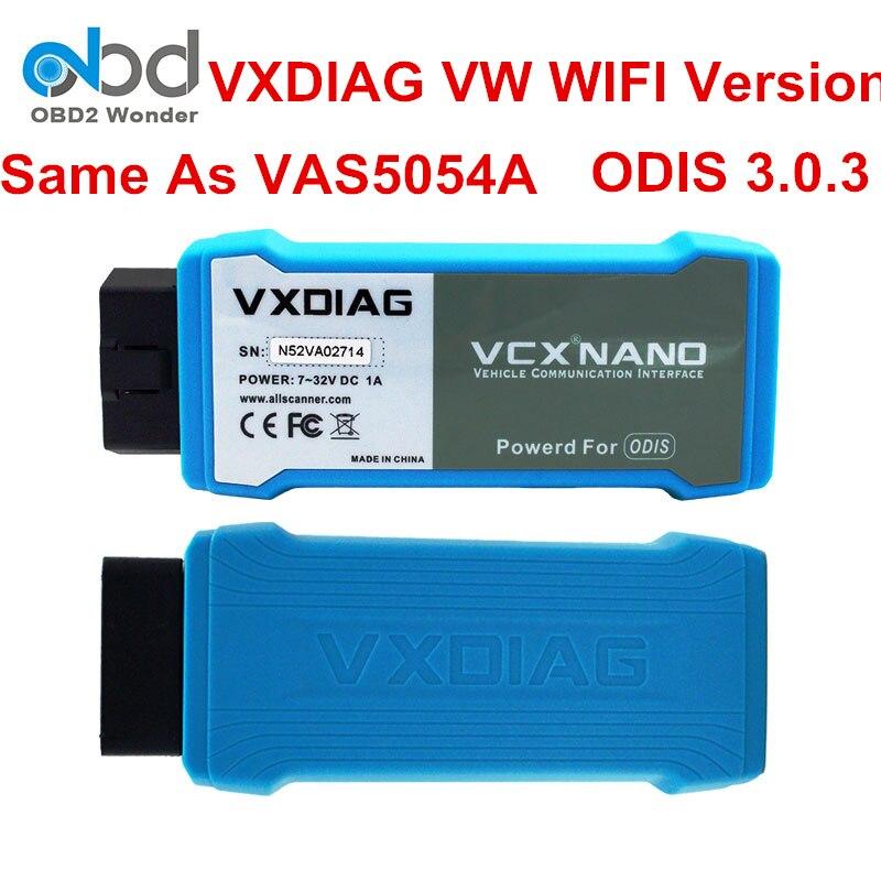 Цена за Оригинальный ALLSCANNER vxdiag VCX Nano для vw инструмент диагностики WI-FI подключения USB vxdiag сканер SW ODIS V3.0.3 заменить VAS5054A