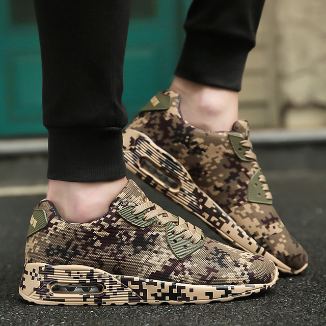 Camouflage Unisex Shoes Slipony men Shoes Height Increase male Comfort Footwear plus size 35-46 free shipping wiki K81gkzNs