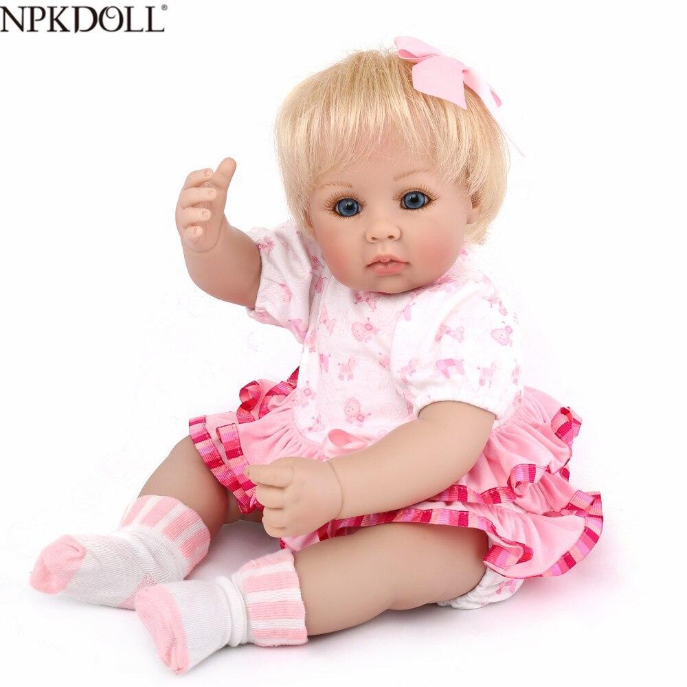 NPKDOLL Reborn Baby Dolls 50CM Lifelike Girls Doll 20inch Soft Silicone Baby Fashion Realistic Bebe Reborn