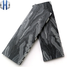 G10 Tool Holder Material DIY Handle Composite Damascus Pattern G-10 Patch 130*45*8mm