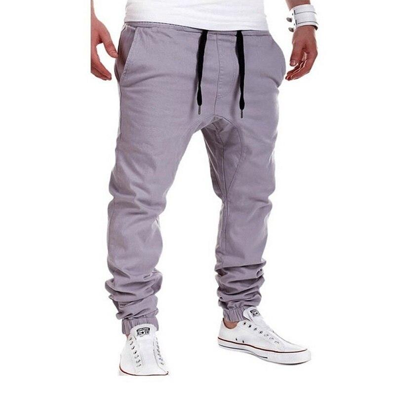 2018 Brand Male Trousers Casual Men Pants Unique Pocket Hip Hop Harem Pants Solid Pants Sweatpants Plus Size Harajuku Discount