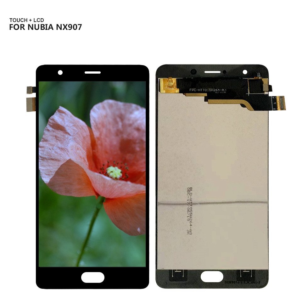 Free Shiping For ZTE Nubia M2 Play NX907 NX907J Touchscreen LCDs Touch Screen Digitizer Glass LCD Display Assembly + Tools(China)