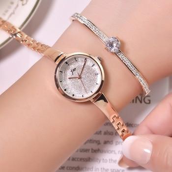 Women Bracelet Watches 2019 Fashion Shining Ladies Wristwatches Luxury Gold Stainless Steel Female Quartz Watch Silver Clock - discount item  25% OFF Women's Watches