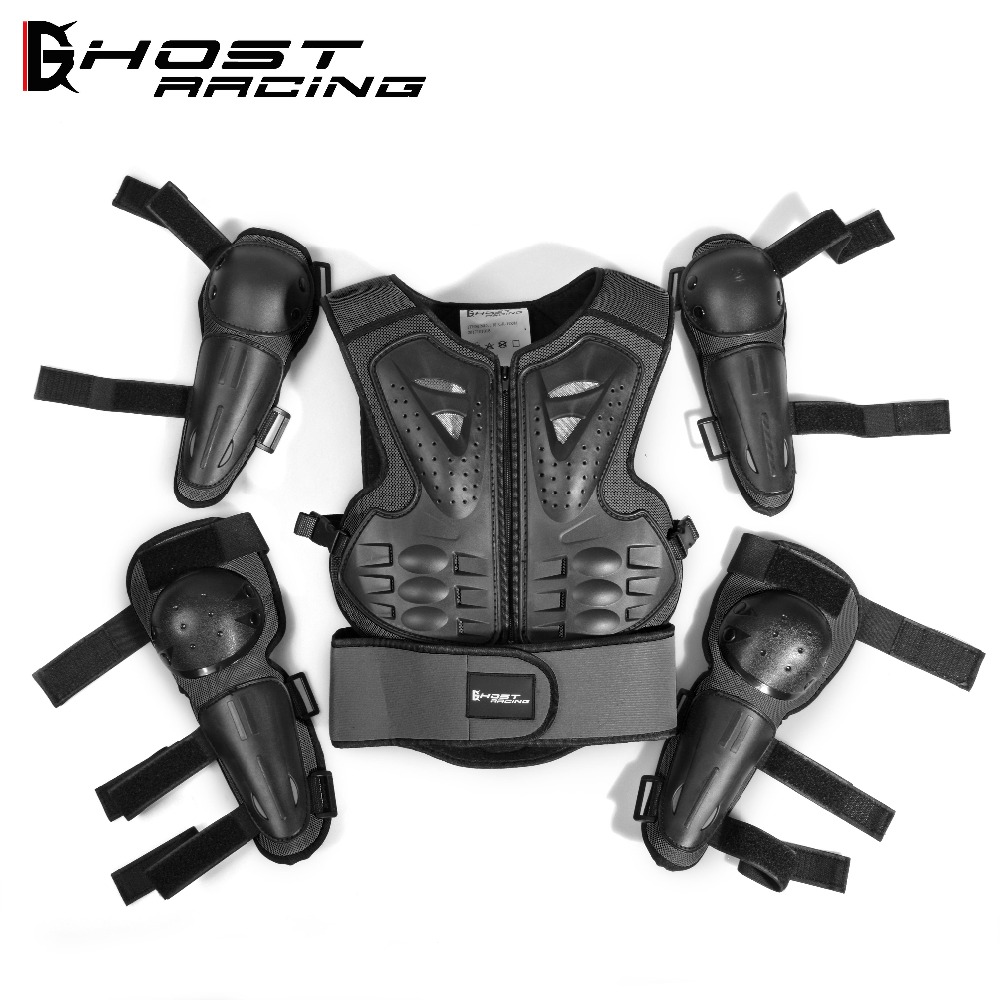 Motorcycle protective gear children knee pads racing elbow riding body protectors Sports Safety Back Support 3