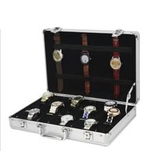 купить 24 Grid Aluminum Suitcase Case Display Storage Box Watch Storage Box Case Watch Bracket Clock Watch Clock Box по цене 1692.76 рублей
