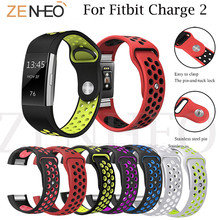 New Replacement Double Color Silicone Bracelet for Fitbit charge 2 wrist band Band Strap Wristband For Charge Watchband