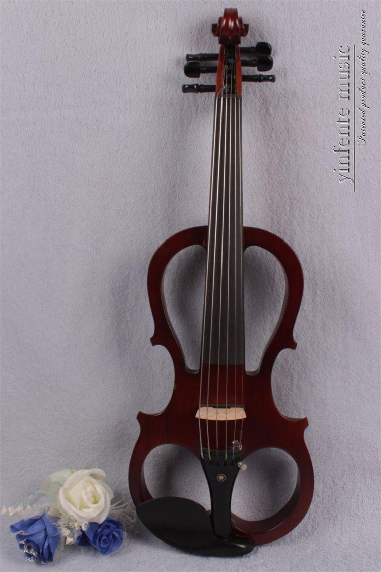 #8833# 4/4 Electric Violin Powerful Sound Solid wood  Big New 6 strings electronic violin 6 string electric violin new 4 4 flame guitar shape solid wood powerful sound6 611
