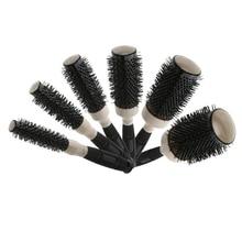 1pc Ceramic&Nylon Round Hair Brush Barber Hairdressing Salon Styling Tools Curly Hairbrush Massage Bomb Quiff Roller Comb