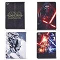 Stormtrooper de Star Wars Jedi Knight Darth Vader Negro Cuero de LA PU Funda Para El Samsung Galaxy Tab E 9.6 T560 T561 protectora