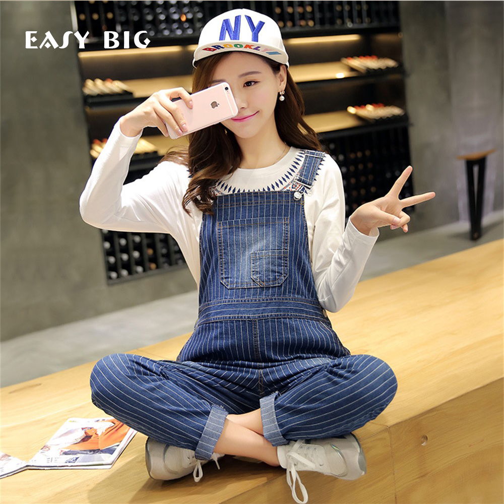 EASY BIG Summer Classic Stripe Pockets Maternity Overalls Loose Bib Pants Clothes for Pregnant Women Pregnancy Clothing MC0015