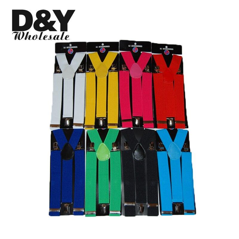 Hot Suspenders Women Men's Unisex Clip-on Braces Elastic Suspender 3.5cm Wide