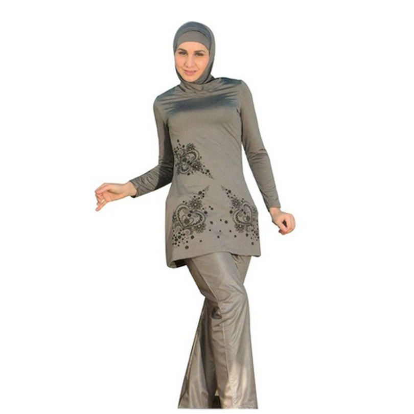 4bc48cc6286 Full Coverage Modest Muslim Swimwear Islamic Swimsuit For Women Arab Beach  Wear Muslim Hijab Swimsuits Plus Size Good Quality. 2 orders