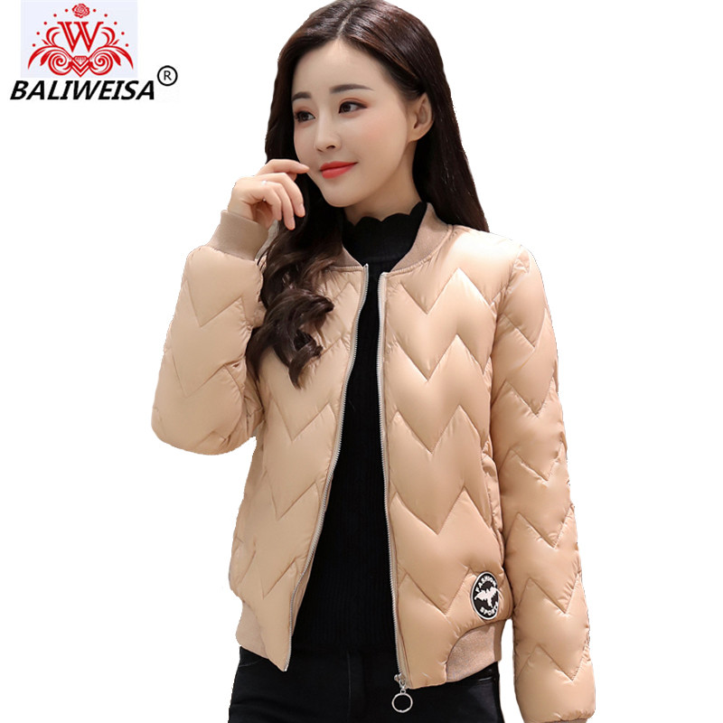 New 2019 short   jacket   women round-neck baseball   basic     jacket   solid new fashion cotton padded female autumn jaqueta feminina coat