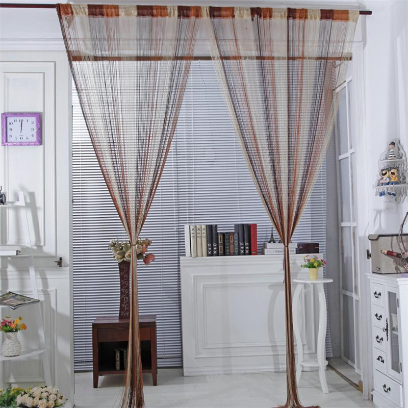 2018 New Line String Window Curtain Tassel Door Room Divider Scarf Valance background do ...