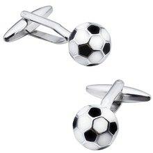 HAWSON Football Cuff links Round Enamel Soccer Ball Cufflink