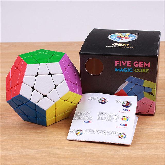 Shengshou MagFoSho Megaminxeds Magic Cube Speed Puzzle Cubes sticker less anti stress toys professional 12 sides cube 6