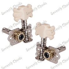 A Set 6 Pcs Silver Open Gear Guitar String Tuning Pegs Machine Heads Tuners For Acoustic Classical Guitar Replacement