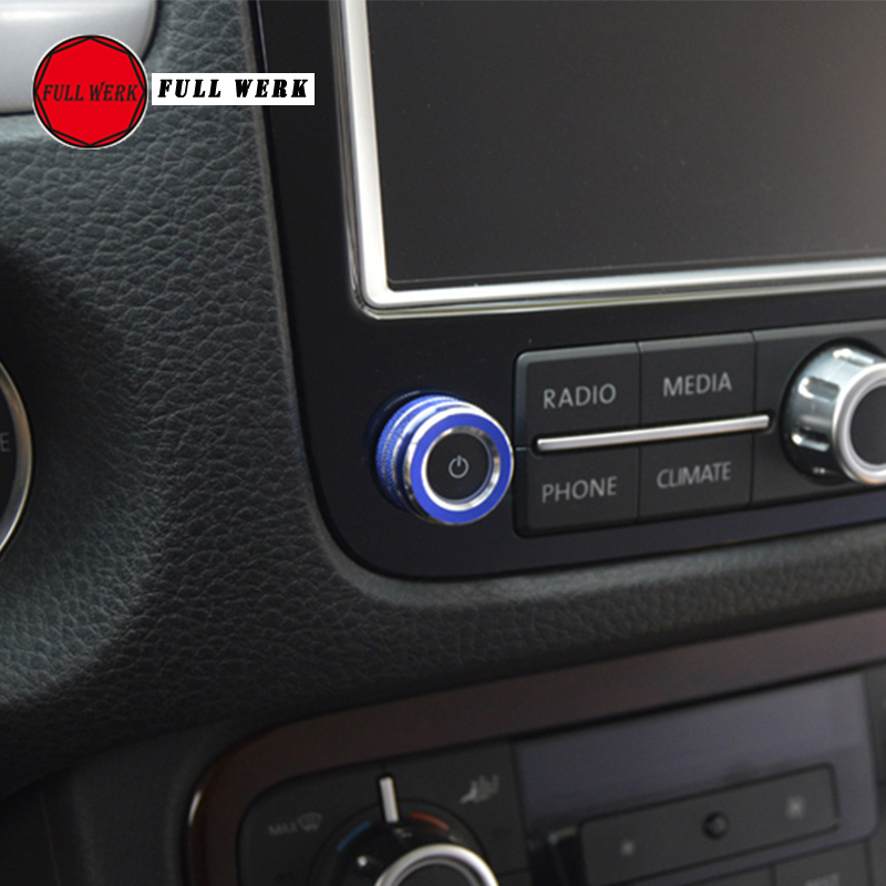 Red 5pcs Audio Air Conditioning Button Cover Decoration Twist Switch Ring Trim for Jeep Wrangler JL 2018 2019