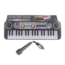ألعاب جديدة آلات موسيقية صغيرة 37 مفاتيح لوحة المفاتيح الكهربائية مع ميكروفون الهدايا تعلم ألعاب تعليمية للأطفال