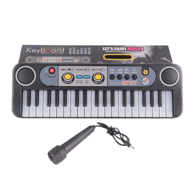 Nuovi Giocattoli Strumenti Musicali Mini 37 Tasti Electone Tastiera Con Microfono Regali di Apprendimento Giocattoli Educativi Per I Bambini