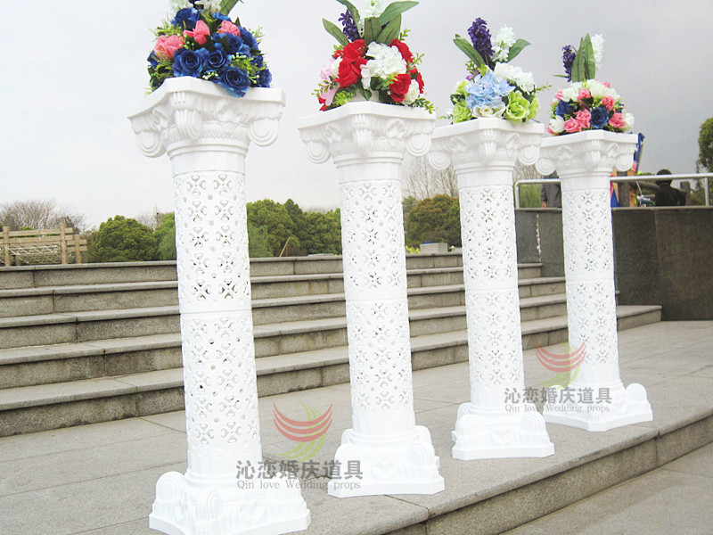 wholesale Luxurious wedding decor Big size road lead column wedding decoration Hollow out Plastic roman pillars 10pcs/lot