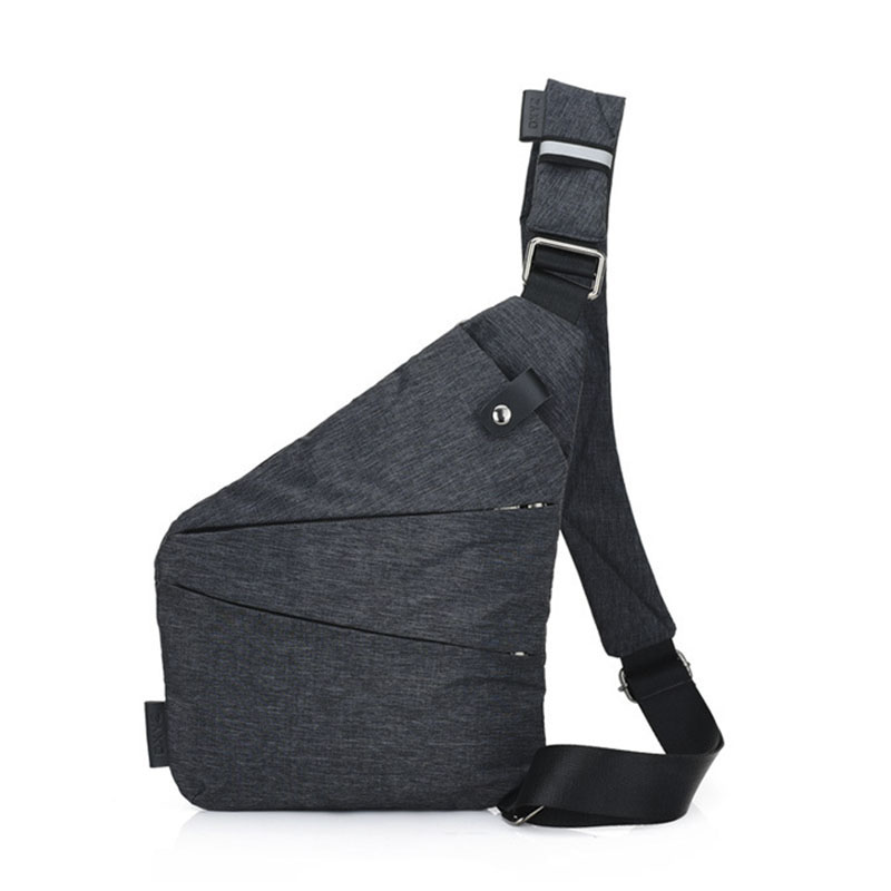 Anti-theft Men's Messenger Bag For Male Hidden Shoulder Chest Pack Retro Crossbody Bag Backbags Cool Motorcycle Sling Gym Bag