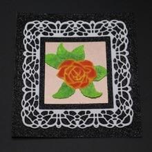 Glita Creatif square flower frame metal cutting dies for scrapbooking DIY albulm photo decorative card making stamp and die