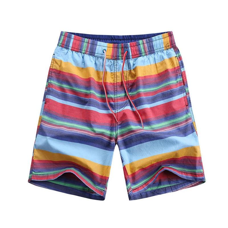 Men Outdoor Running Sport   Shorts   Swim Trunks Bermuda Surf   Board     Shorts   Men's Striped Sportswear Quick Dry Beach   Short   Swimwear