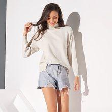 Beige Elegant Boho Winter Plus Size Casual Sweaters Women Loose Thick Turtleneck Plain 2019 Fall Travel Beach Retro Female Tops