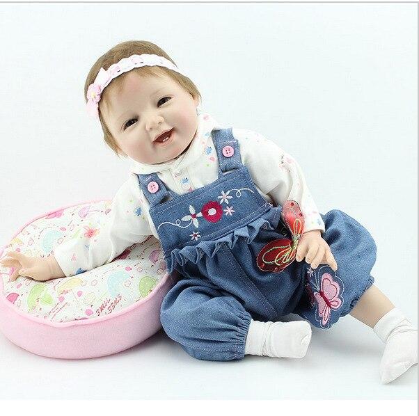 handcraft suave silicona vinilo realista muecos beb reborn nias bebs juguetes de la mueca playmate para