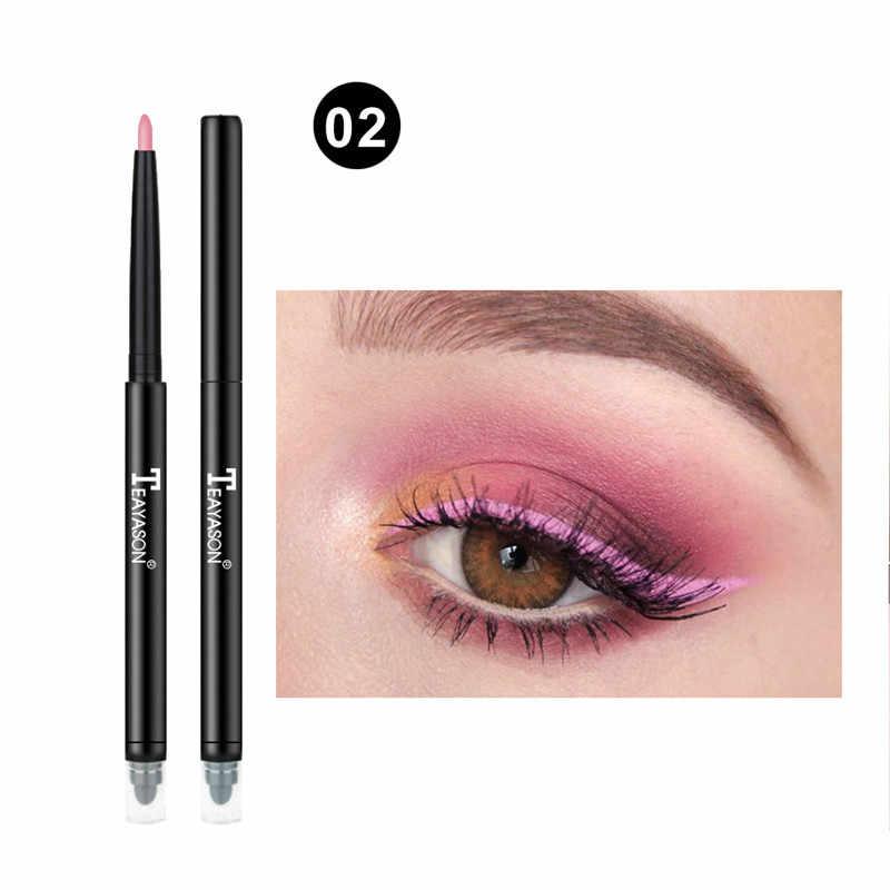 2019 חדש לגמרי כפול צבע אייליינר עט לבן פנינה ורוד גבוהה אור שוכב תולעי משי עט צלליות עט עין איפור לא פורח